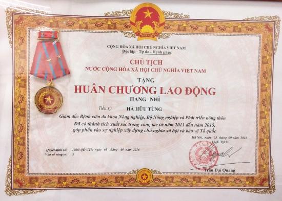 huan chuong lao dong hang nhi