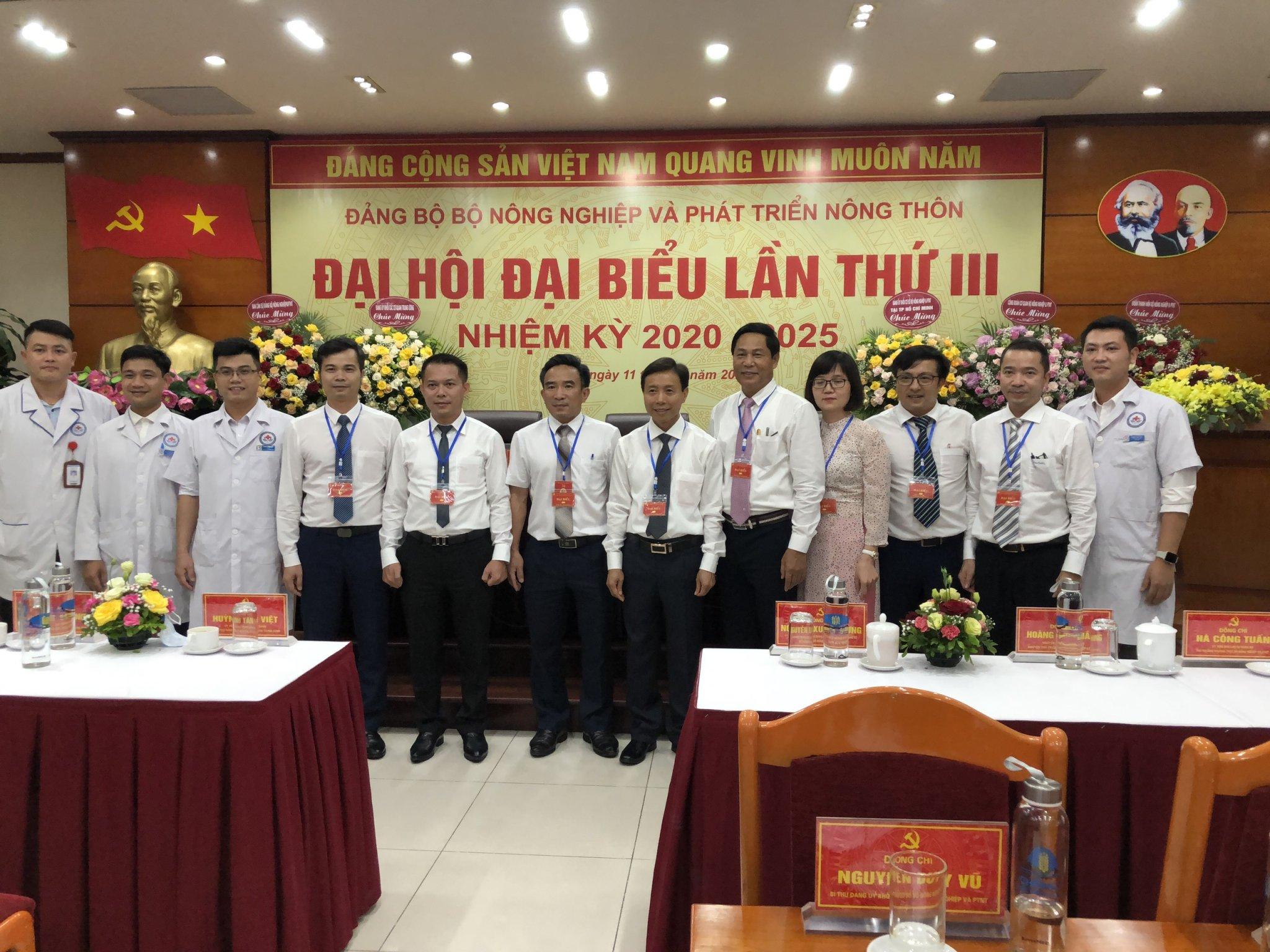 Đoàn Đại biểu Đảng bộ Bệnh viện dự Đại hội Đảng bộ Bộ Nông nghiệp và PTNT lần thứ III, nhiệm kỳ 2020-2025